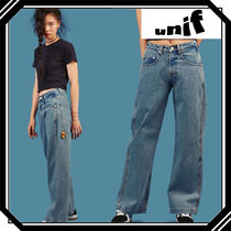 UNIF Clothing Casual Style Plain Long Jeans