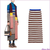 MARNI Stripes Casual Style Cotton Long Maxi Skirts