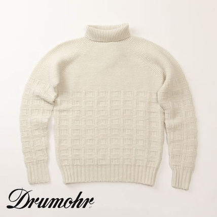 Pullovers Wool Long Sleeves Plain Knits & Sweaters