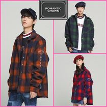 ROMANTIC CROWN Other Check Patterns Unisex Long Sleeves