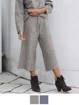 Casual Style Corduroy Plain Medium Culottes & Gaucho Pants