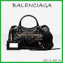 BALENCIAGA CITY Black Classic Gold Mini Crossbody Bag