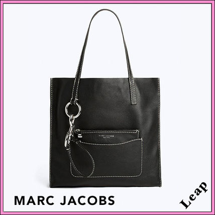 MARC JACOBS Plain Leather Office Style Shoulder Bags