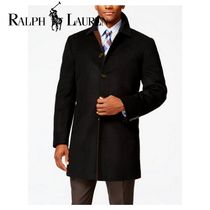 Ralph Lauren Wool Plain Long Chester Coats