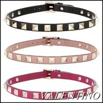 VALENTINO Casual Style Studded Leather Necklaces & Pendants