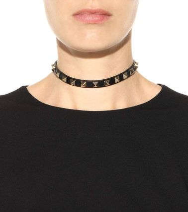 VALENTINO Necklaces & Pendants Casual Style Studded Leather Necklaces & Pendants 4