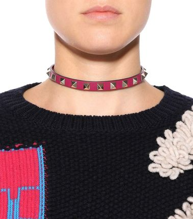 VALENTINO Necklaces & Pendants Casual Style Studded Leather Necklaces & Pendants 12