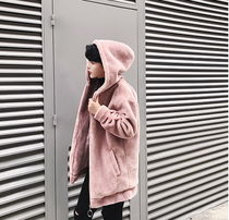 Short Street Style Plain Windbreaker Oversized Jackets