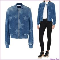 Stella McCartney Star Casual Style Denim Jackets