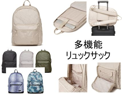 Tropical Patterns Casual Style Unisex Plain Backpacks