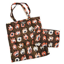 PRADA Flower Patterns Casual Style Nylon A4 Shoppers