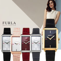 FURLA Casual Style Leather Square Quartz Watches Analog Watches
