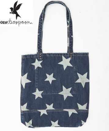 Star Casual Style Street Style A4 Totes