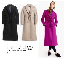 J Crew Wool Plain Long Elegant Style Coats