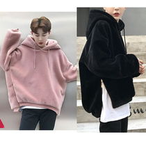 Short Unisex Street Style Plain Windbreaker Oversized