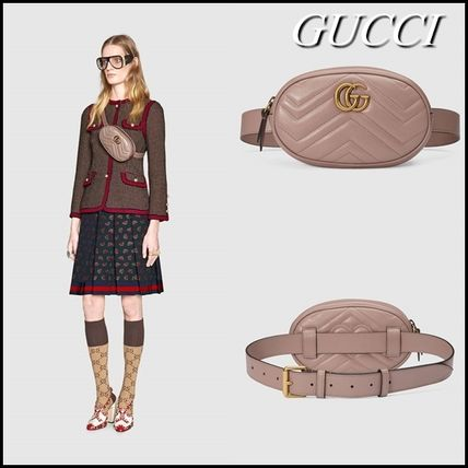 10feb06e0128 ... GUCCI More Bags Beige Chevron GG Marmont Matelasse Leather Belt Bag ...