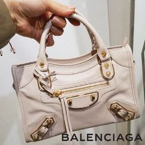 BALENCIAGA CITY Casual Style 2WAY Plain Handbags