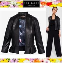 TED BAKER Short Casual Style Plain Leather Biker Jackets