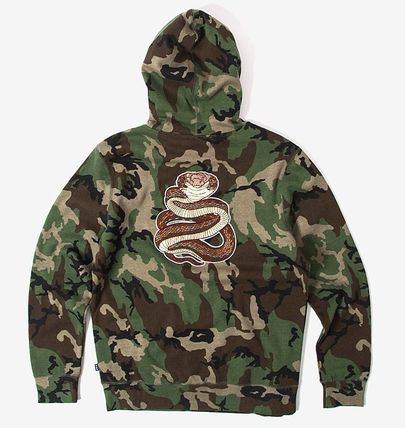 HUF Hoodies Pullovers Flower Patterns Camouflage Sweat Street Style 2