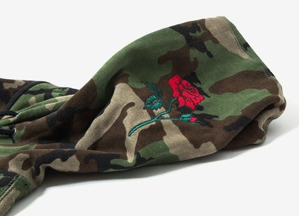 HUF Hoodies Pullovers Flower Patterns Camouflage Sweat Street Style 3