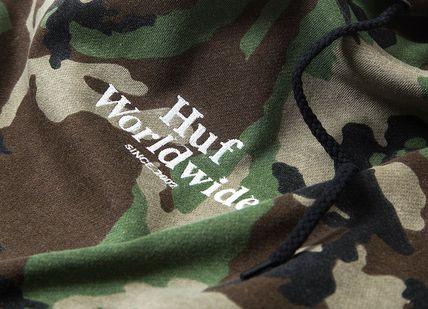 HUF Hoodies Pullovers Flower Patterns Camouflage Sweat Street Style 4