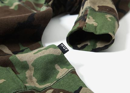 HUF Hoodies Pullovers Flower Patterns Camouflage Sweat Street Style 5
