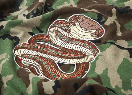 HUF Hoodies Pullovers Flower Patterns Camouflage Sweat Street Style 6