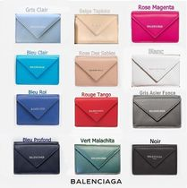 BALENCIAGA PAPIER A4 Plain Leather Folding Wallets