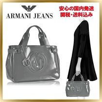 ARMANI JEANS Casual Style Unisex Plain PVC Clothing Handbags