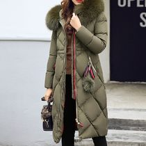 Stripes Fur Plain Medium Khaki Parkas