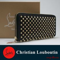 Christian Louboutin Panettone  Street Style Plain Leather Long Wallets