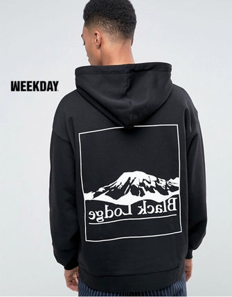 Sweat Street Style Long Sleeves Hoodies