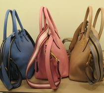 PRADA 2WAY Plain Leather Office Style Handbags