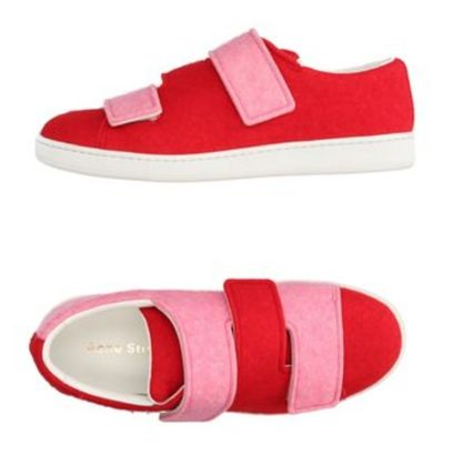 Street Style Plain Party Style Low-Top Sneakers