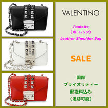 VALENTINO <SALE> VALENTINO Paulette Studded Leather Shoulder Bag