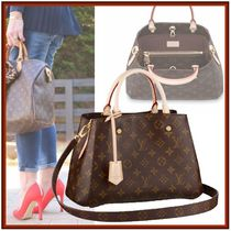 Louis Vuitton MONTAIGNE Monogram Canvas 2WAY Elegant Style Crossbody Handbags