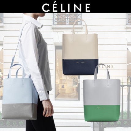 c66b53fe3be5 light CELINE Cabas Women s Navy Shoulder Bags Bi-color  Shop Online in US