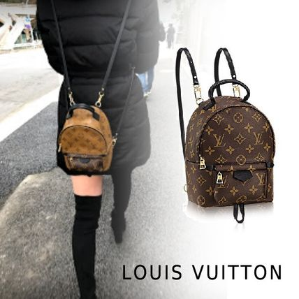 c64a87f1058b Louis Vuitton MONOGRAM 2017-18AW Louis Vuitton PALM SPRINGS BACKPACK ...