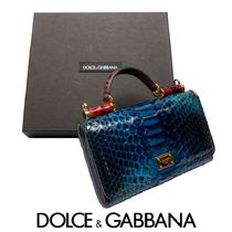Dolce & Gabbana SICILY Chain Leather Python Smart Phone Cases