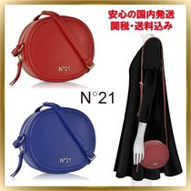 N21 numero ventuno Casual Style Unisex Plain Leather Shoulder Bags