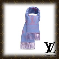 Louis Vuitton Flower Patterns Monogram Cashmere Fringes Elegant Style