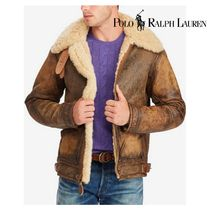 POLO RALPH LAUREN Short Fur Plain Bomber Jackets