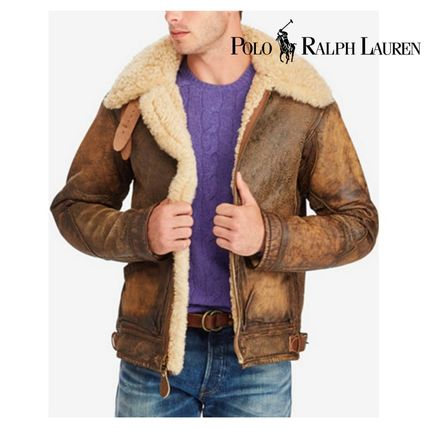Short Fur Plain Bomber Jackets