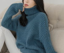 Cable Knit Casual Style Long Sleeves Plain Medium