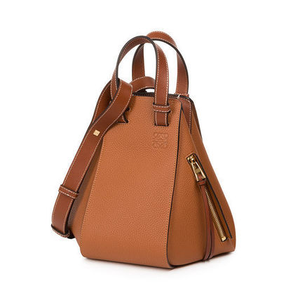 Casual Style Calfskin 3WAY Plain Handmade Shoulder Bags