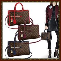 Louis Vuitton Monogram Canvas Studded 2WAY Bi-color Elegant Style Handbags