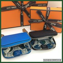 HERMES Calvi Leather Coin Cases