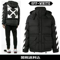 Off-White Short Stripes Street Style Down Jackets