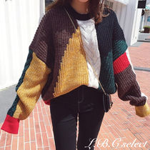 Crew Neck Cable Knit Short Casual Style Wool Oversized