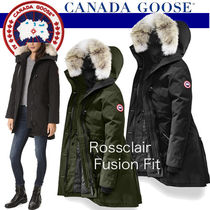 CANADA GOOSE ROSSCLAIR Plain Medium Handmade Elegant Style Down Jackets